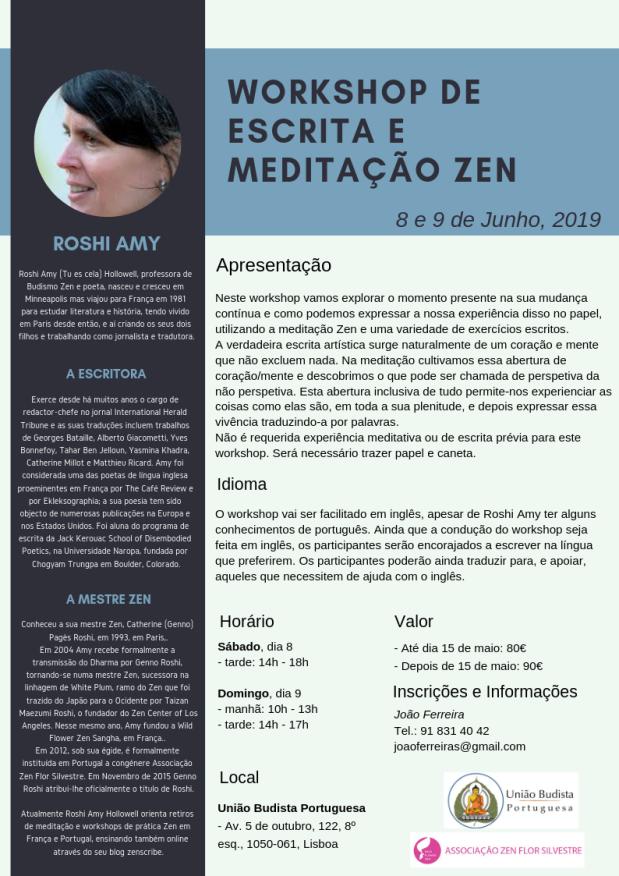 workshop de escrita e meditação zen